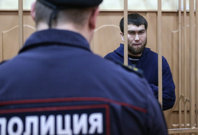 MOSCOW, RUSSIA. NOVEMBER 24, 2015. Anzor Gubashev, a defendant in the Russian politician Boris Nemtsov murder case, at a hearing into the investigation's request to extend his arrest at Moscow's Basmanny District Court. Sergei Savostyanov/TASS