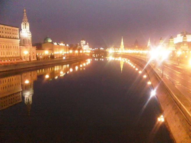 Немцов мост. Москва-река, Кремль