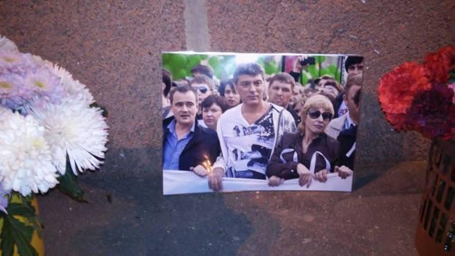На фотографии Борис Немцов. 2012 год, 6 мая. Марш миллионов. Шествие по Якиманке