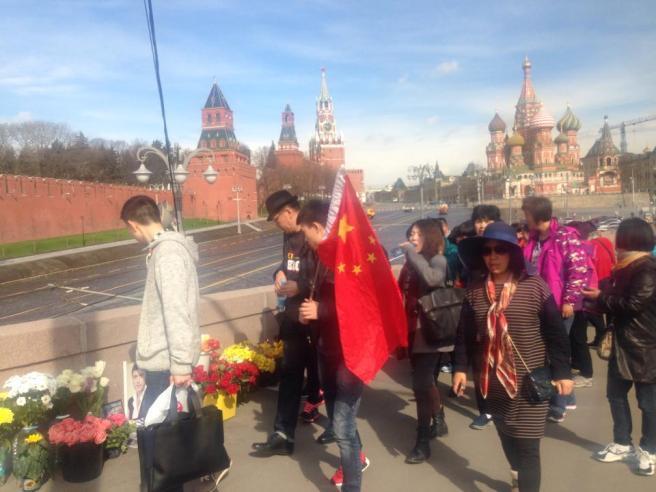 Туристы, видимо, китайцы
