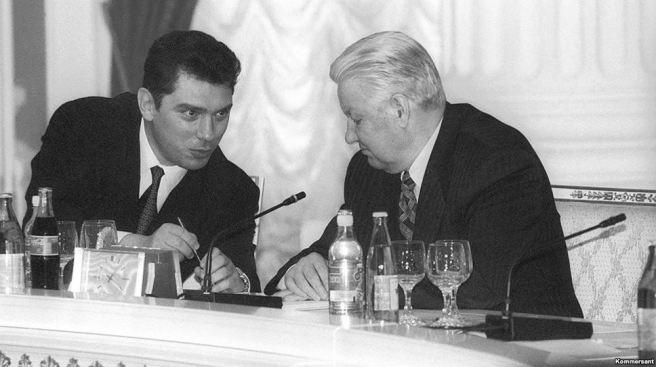 Борис Ельцин Немцову искренне симпатизировал