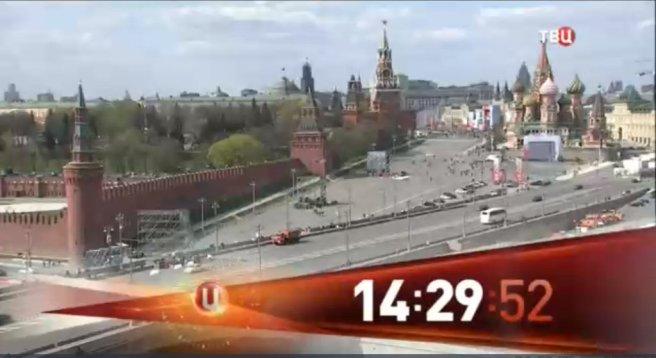 Заставка канала ТВЦ! Каждый час в прямом эфире виден Немцов мост!