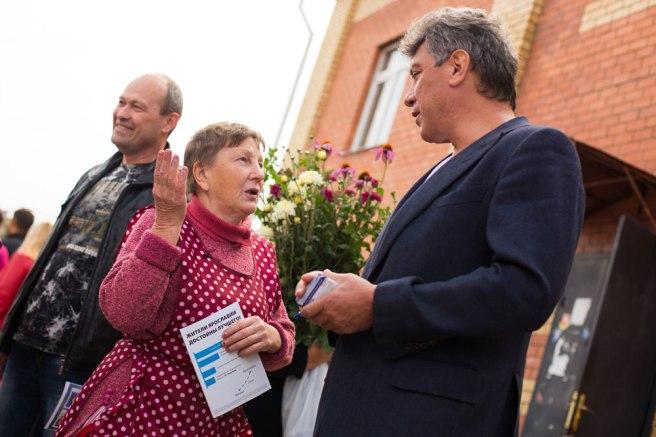 «Вы Немцов или сын Немцова?» — на встрече с жителями Ярославля. 25 августа 2013 г.