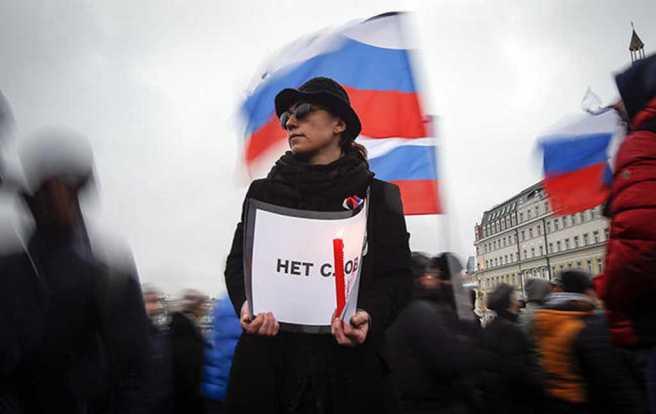 Марш памяти Бориса Немцова, 1 марта 2015 года Фото: Максим Шеметов / Reuters / Scanpix