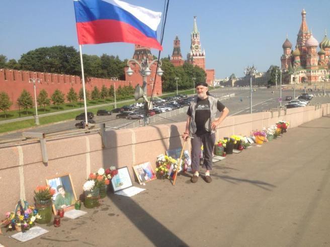 Вадим Цветков и флаг.