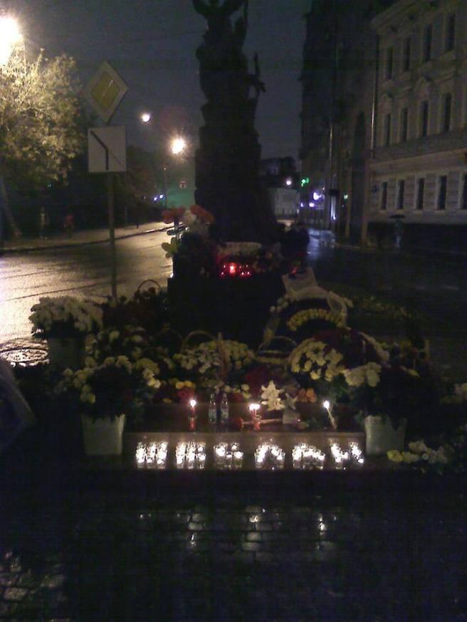 1 сентября 2015 года. Акция памяти погибших в Беслана. Будем помнить...
