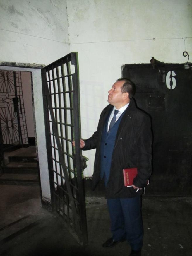 Член президентского совета по правам человека Игорь Каляпин во время визита в ИК-7, 7 ноября 2016 года. Фото: Павел Чиков