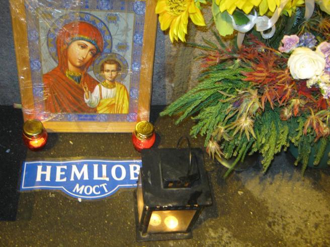 02.01.2017. Немцов мост. Икона из Нижнего Новгорода