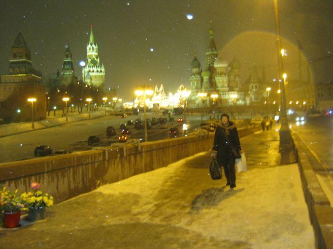 Немцов мост. Татьяна идёт
