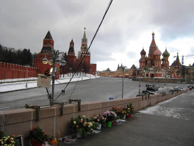 21.01.2017 Дежурство на мосту Немцова. Да будет свет над мемориалом...